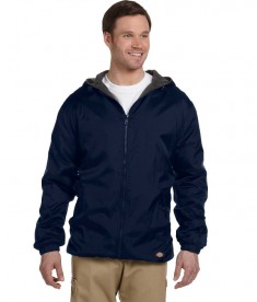 33237 Dickies Fleece-Lined Hooded Nylon Jacket Dark Navy