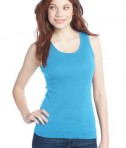 District - Juniors 2x1 Rib Tank Style DT210 Light Turquoise