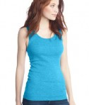 District - Juniors 2x1 Rib Tank Style DT210 Light Turquoise Angle