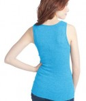 District - Juniors 2x1 Rib Tank Style DT210 Light Turquoise Back