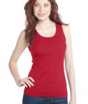 District - Juniors 2x1 Rib Tank Style DT210 New Red