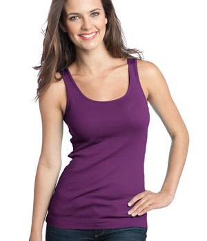 District – Juniors 1×1 Rib Tank Style DT235 Plum Purple