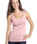 District - Juniors 1x1 Rib Tank Style DT235 Soft Pink