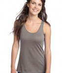District - Juniors 60/40 Racerback Tank Style DT237 Frost Grey