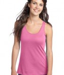 District - Juniors 60/40 Racerback Tank Style DT237 Neon Pink