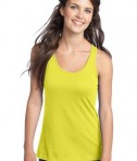 District - Juniors 60/40 Racerback Tank Style DT237 Neon Yellow