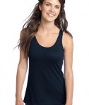 District - Juniors 60/40 Racerback Tank Style DT237 New Navy