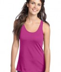District - Juniors 60/40 Racerback Tank Style DT237 Pink Raspberry