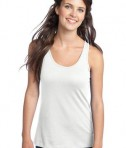District - Juniors 60/40 Racerback Tank Style DT237 White
