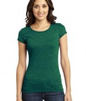 District - Juniors Gravel 50/50 Girly Crew Tee Style DT2400 Green