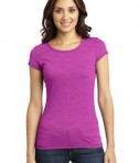 District - Juniors Gravel 50/50 Girly Crew Tee Style DT2400 Pink
