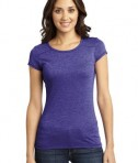 District - Juniors Gravel 50/50 Girly Crew Tee Style DT2400 Purple