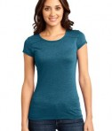 District - Juniors Gravel 50/50 Girly Crew Tee Style DT2400 Turquoise
