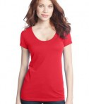 District - Juniors 60/40 Scoop Tee Style DT245 Bright Coral