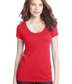 District – Juniors 60/40 Scoop Tee Style DT245 Bright Coral