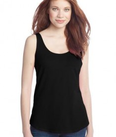 District - Juniors Cotton Swing Tank Style DT2500 Black