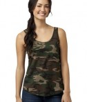 District - Juniors Cotton Swing Tank Style DT2500 Military Camo