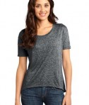 District - Juniors Microburn Wide Neck Hi/Lo Tee Style DT260 Heathered Black