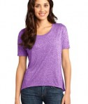District - Juniors Microburn Wide Neck Hi/Lo Tee Style DT260 Heathered Purple Orchid