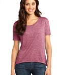 District - Juniors Microburn Wide Neck Hi/Lo Tee Style DT260 Heathered Sangria