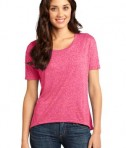 District - Juniors Microburn Wide Neck Hi/Lo Tee Style DT260 Heathered Watermelon