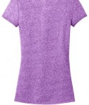 District - Juniors Microburn V-Neck Cap Sleeve Tee Style DT261 Heathered Purple Orchid Flat Back