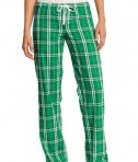 District - Juniors Flannel Plaid Pant Style DT2800 Kelly Green