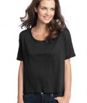 District - Juniors Modal Blend Boxy Tee Style DT281 Black