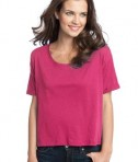 District - Juniors Modal Blend Boxy Tee Style DT281 Fuchsia