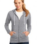District - Juniors Core Fleece Full-Zip Hoodie Style DT290 Athletic Heather