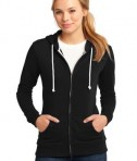 District - Juniors Core Fleece Full-Zip Hoodie Style DT290 Black