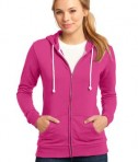 District - Juniors Core Fleece Full-Zip Hoodie Style DT290 Fuchsia