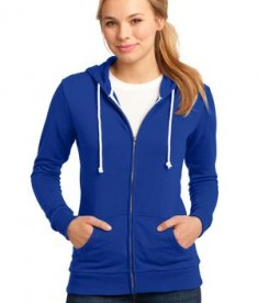 District - Juniors Core Fleece Full-Zip Hoodie Style DT290 Deep Royal