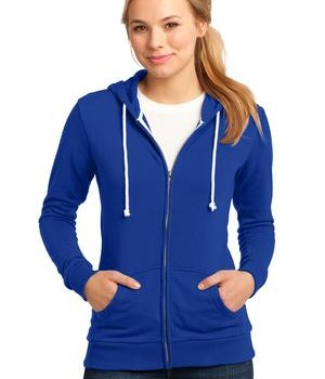 District – Juniors Core Fleece Full-Zip Hoodie Style DT290 Deep Royal