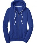 District - Juniors Core Fleece Full-Zip Hoodie Style DT290 Deep Royal Flat