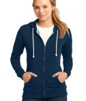 District - Juniors Core Fleece Full-Zip Hoodie Style DT290 New Navy