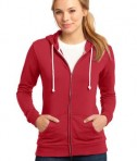 District - Juniors Core Fleece Full-Zip Hoodie Style DT290 New Red