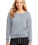 District - Juniors Core Fleece Wide Neck Pullover Style DT293 Athletic Heather