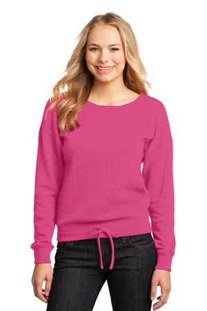 District – Juniors Core Fleece Wide Neck Pullover Style DT293 Dark Fuchsia