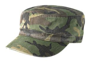 District - Distressed Military Hat Style DT605 Camo