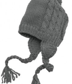 District - Cabled Beanie with Pom Style DT617 Grey