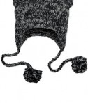 District - Hand Knit Cat-Eared Beanie Style DT626 Black