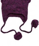 District - Hand Knit Cat-Eared Beanie Style DT626 Bright Berry