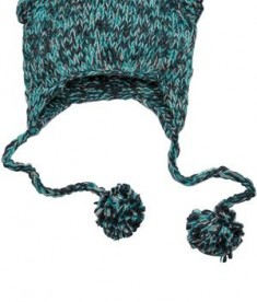 District - Hand Knit Cat-Eared Beanie Style DT626 Navy