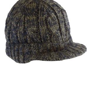 District – Cabled Brimmed Hat Style DT628  Khaki Navy