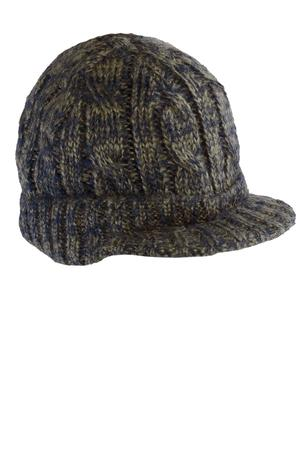 District - Cabled Brimmed Hat Style DT628 Khaki Navy