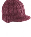District - Cabled Brimmed Hat Style DT628 Rose Maroon