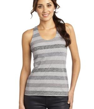 District – Juniors Reverse Striped Scrunched Back Tank Style DT229 1