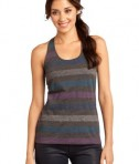 District - Juniors Reverse Striped Scrunched Back Tank Style DT229