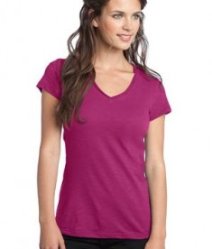 District Juniors Slub V-Neck Tee Style DT240